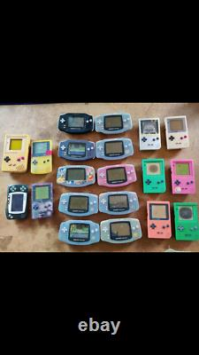 X19 Faulty Nintendo Gameboy Color Advance Pocket Consoles For Spares Or Repair