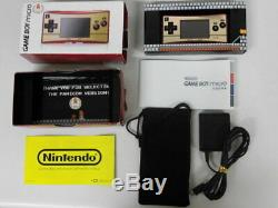 Y3586 Nintendo Gameboy micro console Famicom color Japan withbox pouch adapter x