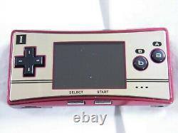 Y5656 Nintendo Gameboy micro console Famicom color Japan withbox adapter x