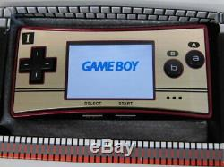 Z7207 Nintendo Gameboy micro console Famicom color Japan withbox pouch adapter