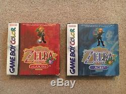 Zelda Oracle of Ages & Seasons Gameboy color