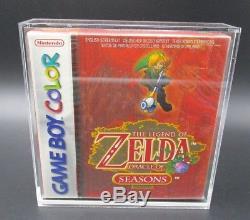 Zelda Oracle of Seasons NEU Gameboy Color OVP CIB Nintendo Sealed + Ninodo Case