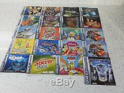 125 Nintendo Gameboy Advance Sp Originale Jeux De Couleurs Bundle Grand Lot