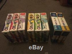 8 Consoles De Couleur Nintendo Gameboy En Boîte. Complet Et Condition De Collecteur