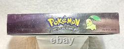 Authentic Pokemon Crystal Version (game Boy Color, 2001) Dans La Boîte Avec Manuel