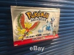 Authentique Nintendo Gameboy Color Pokemon Promo Retail Store Affichage Bannière