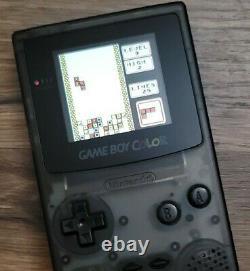 Black Nintendo Gameboy Color Gbc Backlight Funnyplaying Ips Screen V2