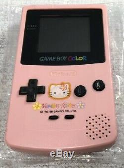 Bonjour Kitty Gameboy Color Console Spéciale Box Japon Complete Mint Near