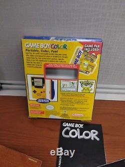 Box Uniquement Pokemon Jaune Gameboy Color Special Edition Pikachu Box Uniquement