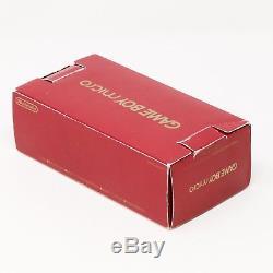 Boxed GB Micro Gameboy Avance Famicom 20e Anniversaire Ed Couleur Nintendo