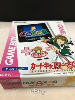 Cardcaptor Sakura Console Boxed Game Boy Couleur Cgb-001 Rose Blanc Nintendo D'occasion