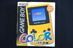 Complete New Nintendo Game Boy Color Open Box Japon Pissenlit Jaune