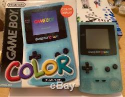 Console Cgb-001 De Jouets R Us Jouets Rus De Couleur Bleue Glaciale Jap Gameboy Color Edition Limitée