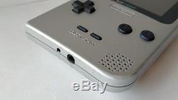Console Couleur Nintendo Gameboy Light Silver Mgb-101 Coffret / Rétro-éclairage Ok-c9