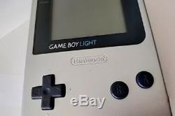 Console Couleur Nintendo Gameboy Light Silver Mgb-101 Et Jeu Réglé / Testé-b119