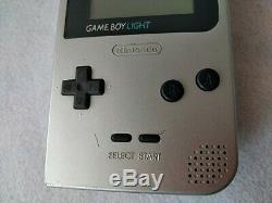 Console Couleur Nintendo Gameboy Light Silver Mgb-101 Et Jeux De Jeux / Testés-b530