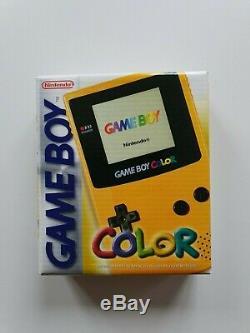 Console De Jeu Nintendo Gameboy Couleur Jaune Limited Console Rare En Boîte Scellée À L'usine