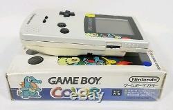 Console De Jeux Nintendo Game Boy Couleur Pokémon Center Gold Gold Gbc Rare Lnc