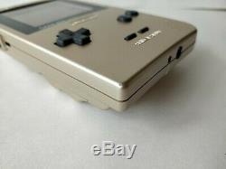 Console Game Boy Couleur Light Gold Mgb-101, Manuel, Coffret Et Jeu Testé-b1018