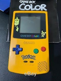 Console Game Boy Couleur Pokemon Édition Spéciale Pikachu Console En Boite