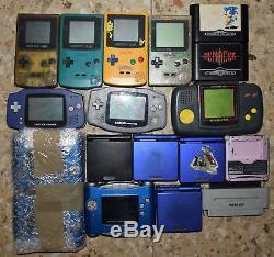 Console Game Boy Sp Gba Gbc Rétro Nintendo Pocket Pikachu Avance Couleur
