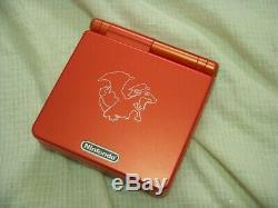 Console Nintendo Game Boy Advance Sp Pokemon Centre Charizard Couleur Limitée