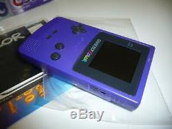 Console Nintendo Game Boy Couleur Raisin Alto Pal Utilisé Dans La Boîte Testée