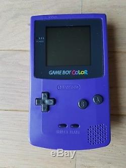 Console Nintendo Game Boy Couleur Violette + Everdrive GB X3 + Carte Sd 16 Go