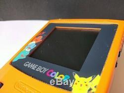 Console Nintendo Gameboy Color Pokemon En Édition Limitée, Couleur Orange, Game-b324