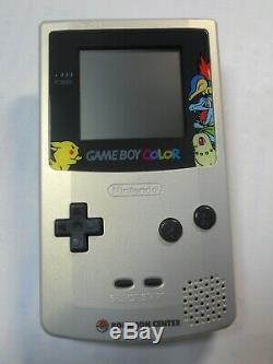 Console Nintendo Gameboy Color Pokemon Limitée Or Argent Avec Box Et Manuel