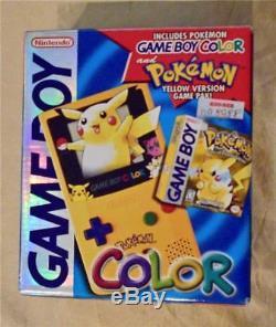 Console Nintendo Gameboy Couleur Pokémon Jaune Pikachu Edition Spéciale Console Système Gbc