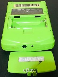 Console Niwi Game Boy Color Cgb-001 Avec Kiwi Vert Lime Avec 24 Jeux