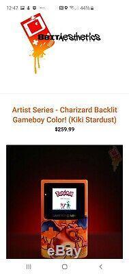 Console Personnalisée Gameboy Color Color Avec Rétro-éclairage Mod By 8bitaesthetics