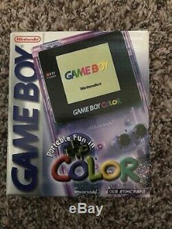 Console Scellée Game Boy Color Atomic Pourpre Toute Neuve