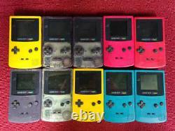 Couleur Gbc Lot Gameboy 10 Set Nintendo Console Au Hasard Japon Jonque Vintage