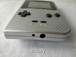 Défectueux Nintendo Game Boy Console Couleur Silver Light Mgb-101, Coffret-c0730