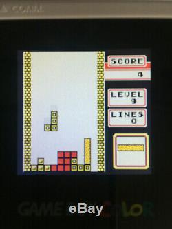 Écran En Verre Et Rétroéclairage Mcwill Gameboy Color White Tetris Edition Nintendo