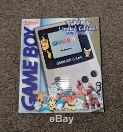 Edition Limitée Pokemon Game Boy Couleur Console Box + Manuels Seulement! Pas De Console