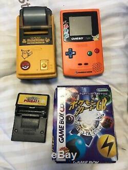 Ensemble Gameboy Color Pokemon Center Édition Orange / Bleu, Imprimante De Poche / Flipper