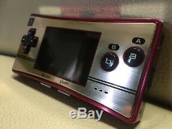 Ex + Nintendo Game Boy Micro Famicom 20 Nes Couleur Console De Jeu