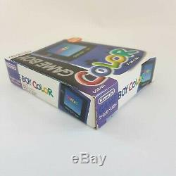 Extrêmement Série Low # 38 Boxed Nintendo Game Boy Color Purple Système De Poche