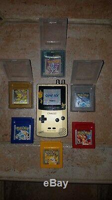 Frontlit Pikachu Gameboy Couleur Gbc W Pokemon Rouge Bleu Jaune Argent Or Cristal