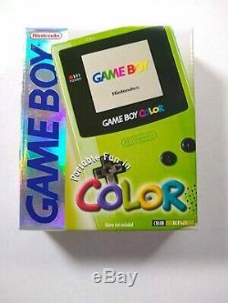 Game Boy Color Kiwi (vert Lime) Système Nintendo Gbc Complet Dans La Boîte
