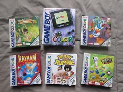 Game Boy Color Lila +5 Jeux Alie Ovp Et Complet Mega Zustand Sammler