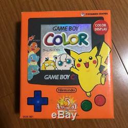 Game Boy Color Pokemon Centre 3 Ans Anniversaire Excellente Console Boxed Japon