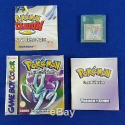 Game Boy Color Pokemon Version Crystal X Complete Gameboy Region En Boite Gratuit Pal