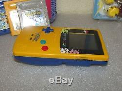Game Boy Color System Limited Edition Pokémon Jaune + Jeux Pokémon Jaune, Rouge