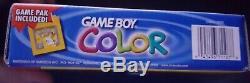 Game Boy Couleur Pokemon Ed Jaune-bleu Portatif Joueur Dans La Boîte Avec Game Pak