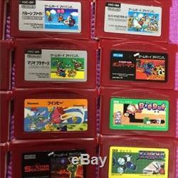 Game Boy Micro Famicom Couleur Chargeur Nintendo 16 Souple Set Occasion Good F / S Japon