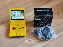 Gameboy Advance Sp Pokémon Pikachu Nintendo Système Jaune Couleur 101 Ips Écran
